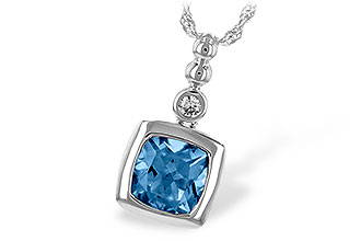 A235-13952: NECK 1.45 BLUE TOPAZ 1.49 TGW
