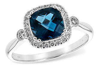 B235-10298: LDS RG 1.62 LONDON BLUE TOPAZ 1.78 TGW