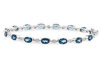 C236-05816: BRACELET 7.20 LONDON BLUE TOPAZ 7.36 TGW