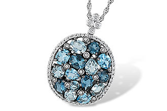 F233-31261: NECK 3.12 BLUE TOPAZ 3.41 TGW