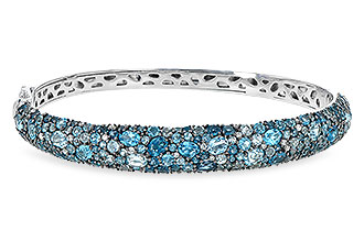 F236-03061: BANGLE 7.60 BLUE TOPAZ 7.85 TGW