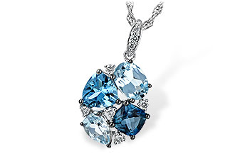 G235-10279: NECK 2.60 BLUE TOPAZ 2.70 TGW