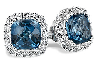 H235-10297: EARR 2.14 LONDON BLUE TOPAZ 2.40 TGW
