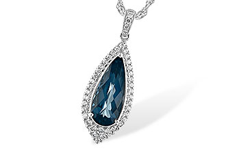 K235-12106: NECK 2.40 LONDON BLUE TOPAZ 2.65 TGW
