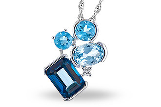 K318-79415: NECK 3.08 BLUE TOPAZ TW 3.11 TGW