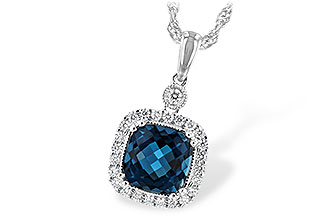 L235-10279: NECK 1.63 LONDON BLUE TOPAZ 1.80 TGW