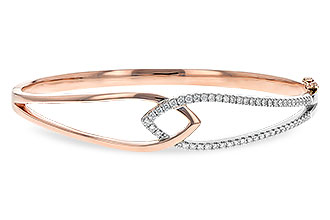 L235-16715: BANGLE BRACELET .50 TW (ROSE & WG)
